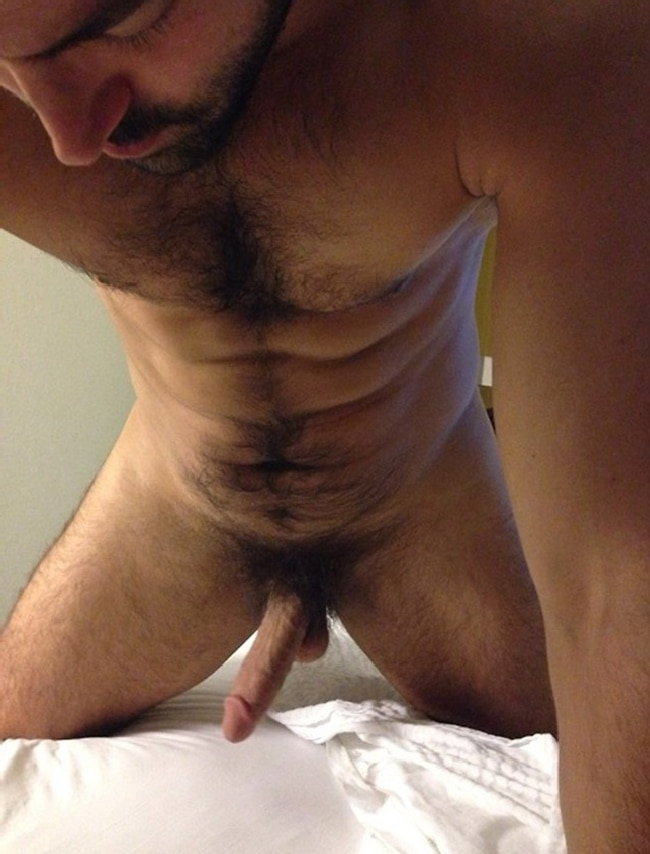 Nude Man With Hairy Body
