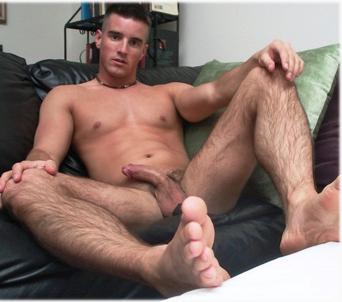 Gay young hairy toes cum covered feet with 4