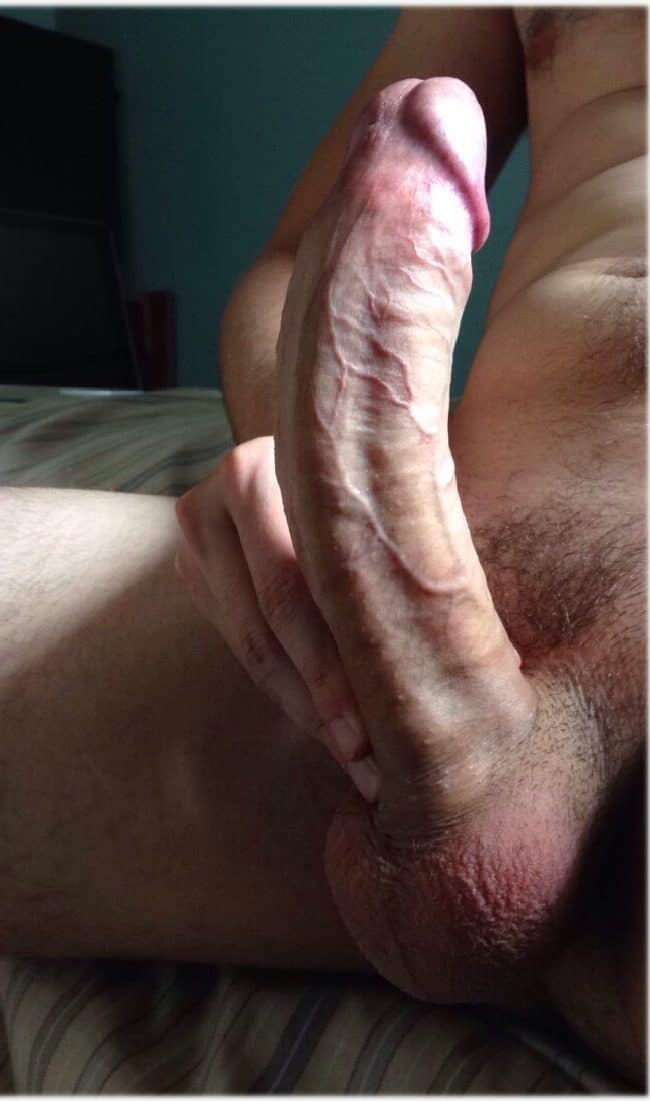 Hard Curved Cock