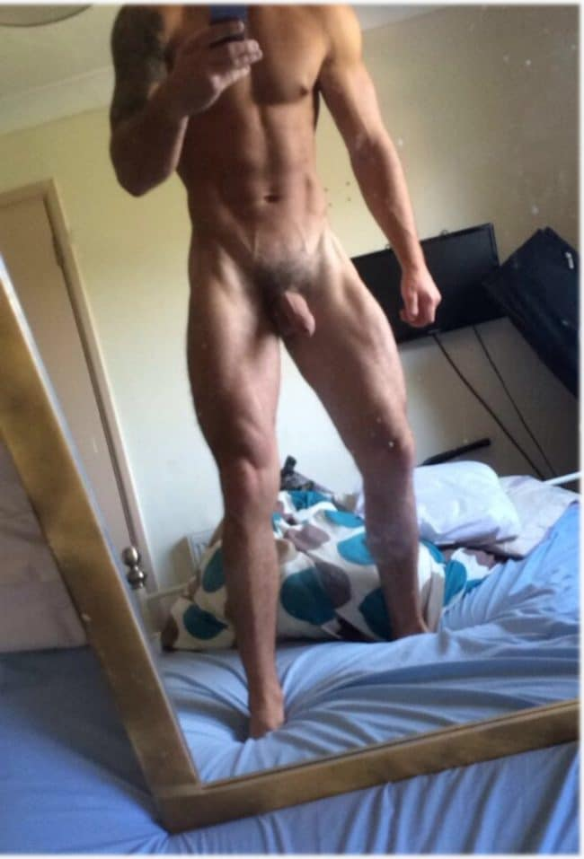 Naked Man Self Picture